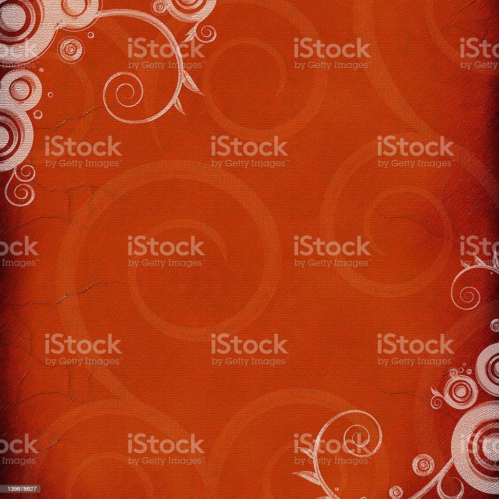 Swilrs on aged canvas royalty-free stock photo