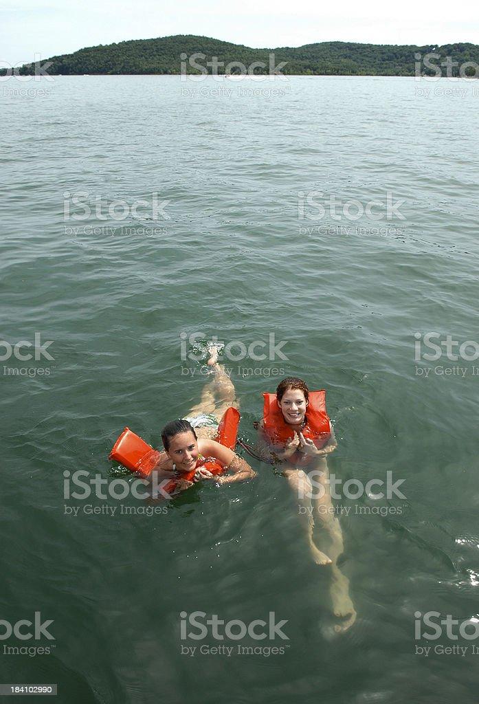 Swim in the Lake royalty-free stock photo