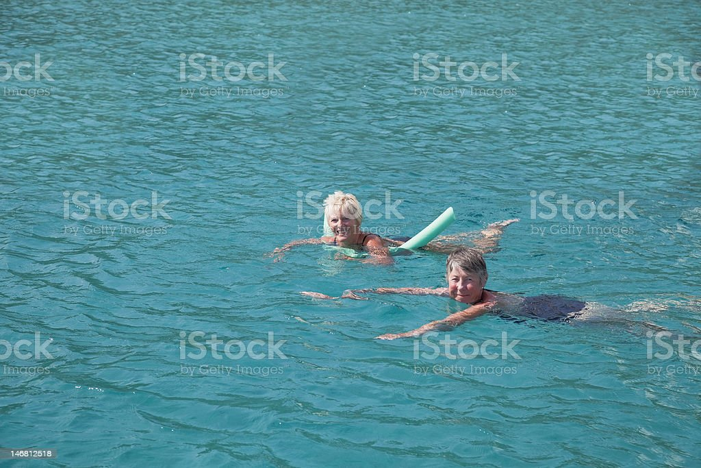 Swim in the turquoise sea. royalty-free stock photo