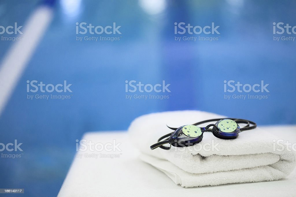 Swim into health! stock photo