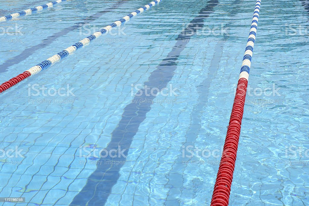 Swim Lanes in horizontal orientation stock photo