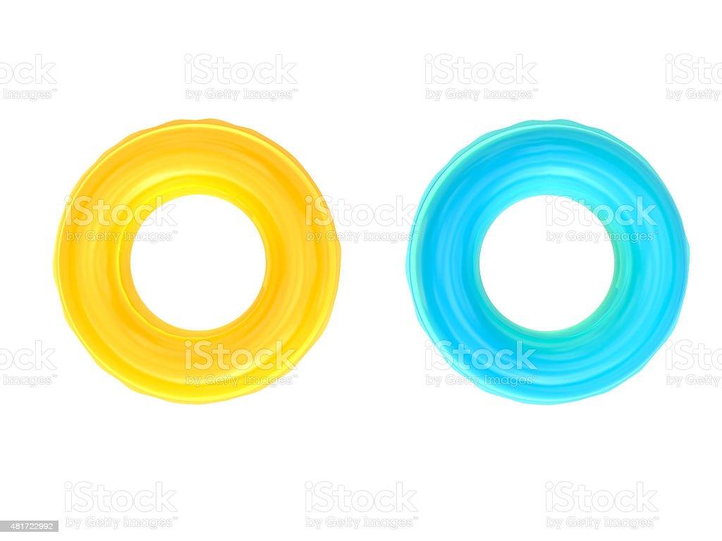 swim rings stock photo