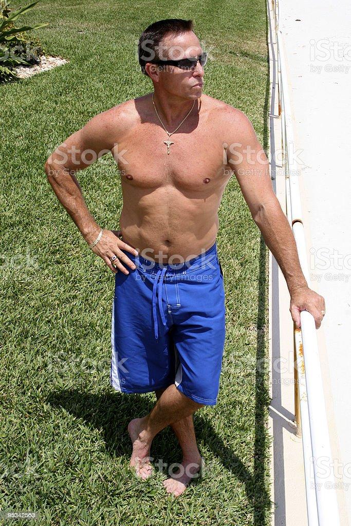 Swim Suit Model royalty-free stock photo