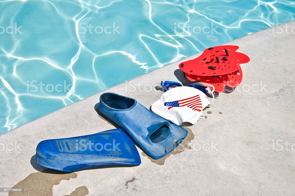 Swim Training Equipment stock photo