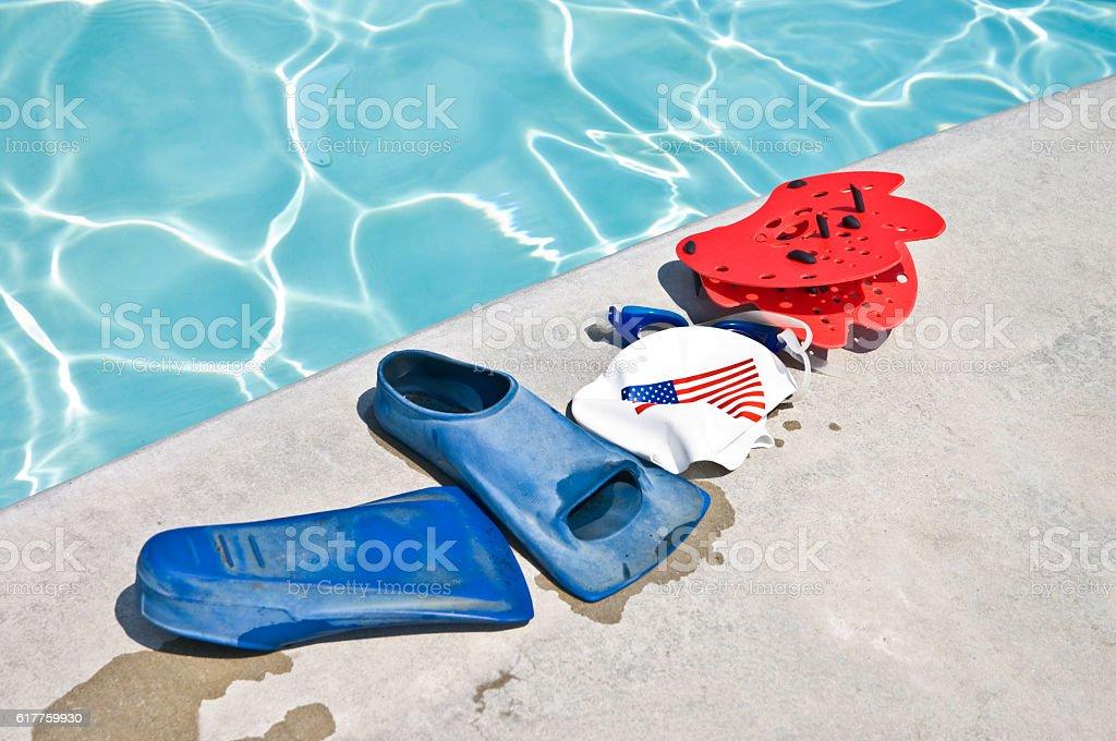 Swim Training Equipment stock photo