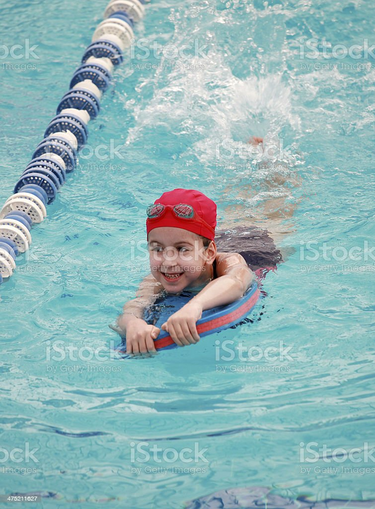 Swiming child 1 stock photo