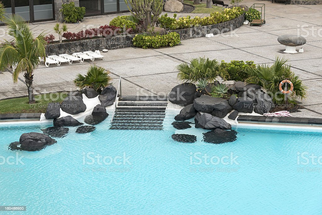swiming pool in santa cruz royalty-free stock photo
