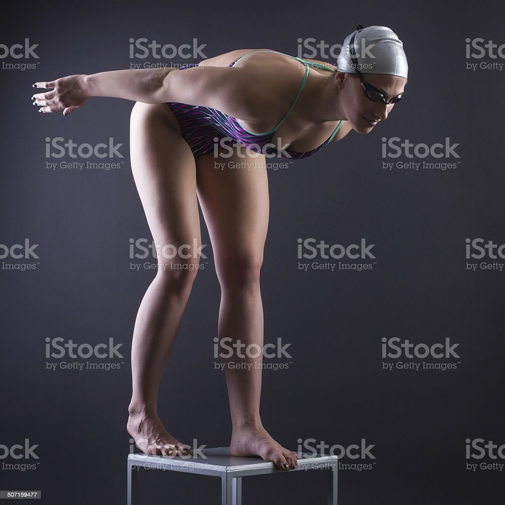 Swimmer at the start. royalty-free stock photo