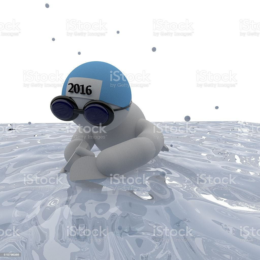 Swimmer breaststroke style stock photo
