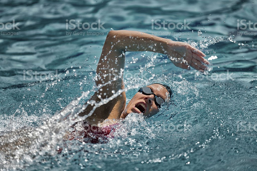 Swimmer in action royalty-free stock photo