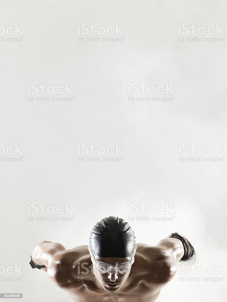 A swimmer waiting royalty-free stock photo