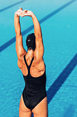 Swimmer warming-up
