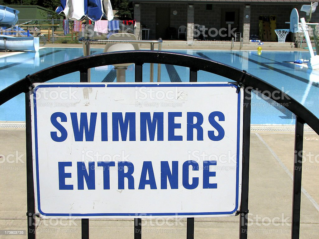 Swimmer's Entrance royalty-free stock photo