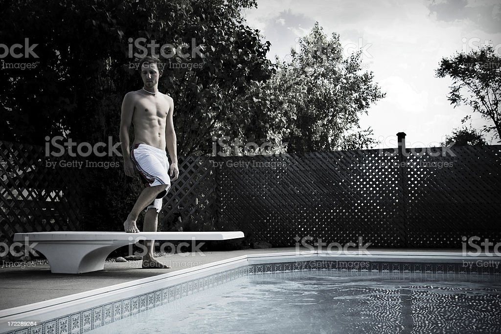 Swimming Alone royalty-free stock photo