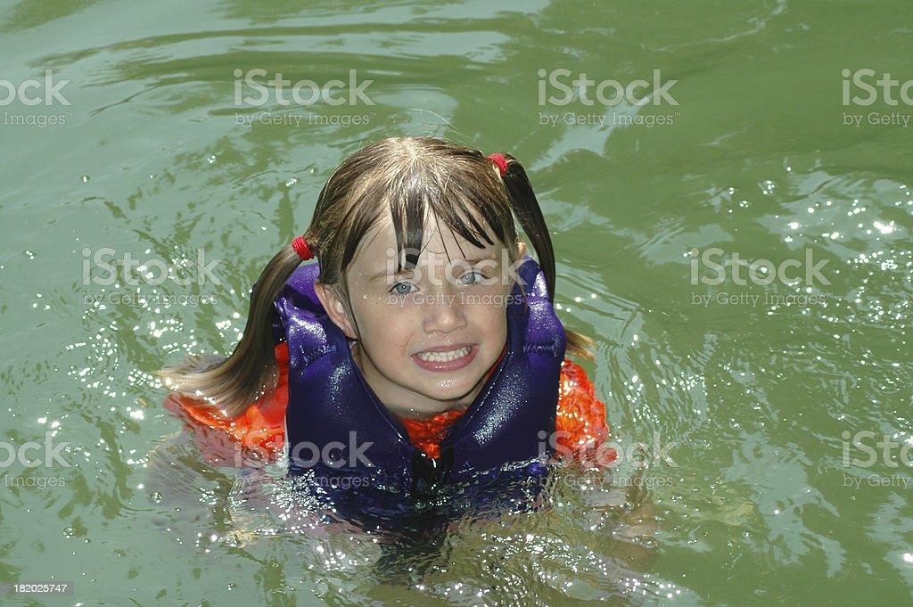 Swimming at Lake Norris stock photo
