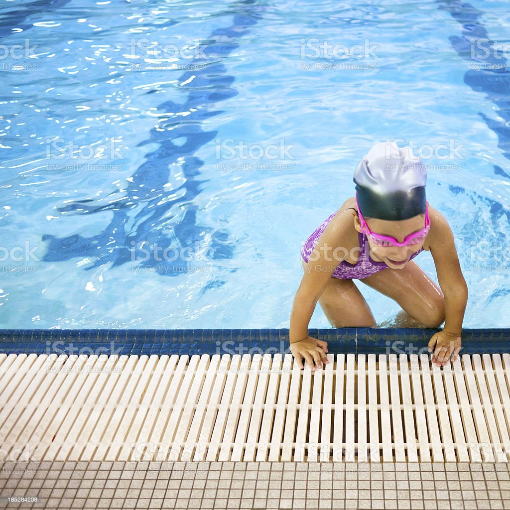 swimming at the pool royalty-free stock photo