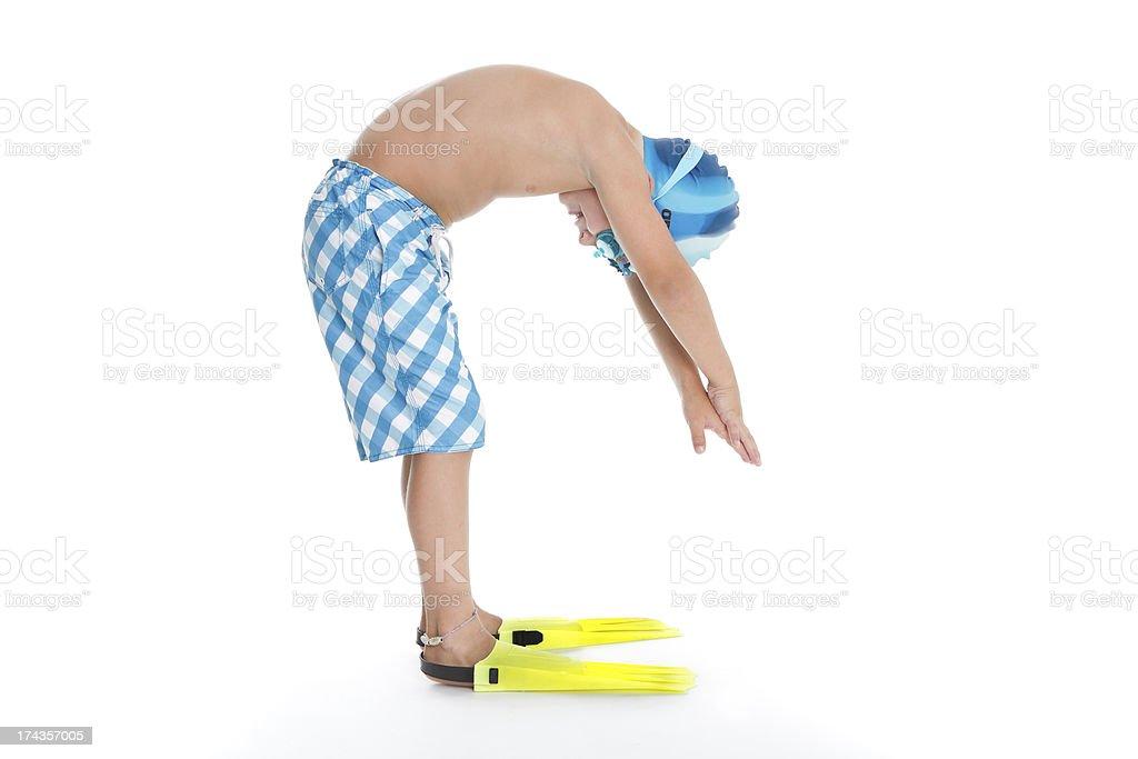 Swimming boy royalty-free stock photo