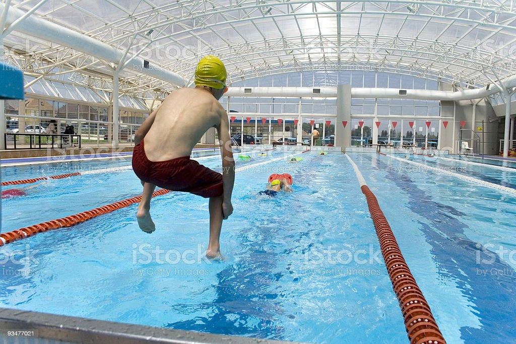 Swimming class 2 stock photo