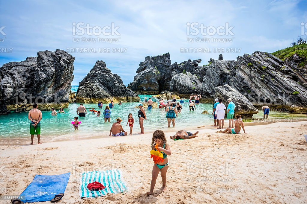 Swimming Cove Bermuda stock photo