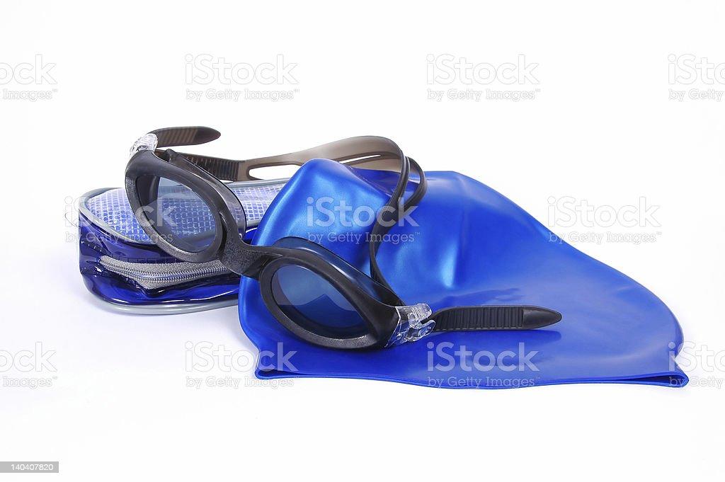 Swimming equipment stock photo