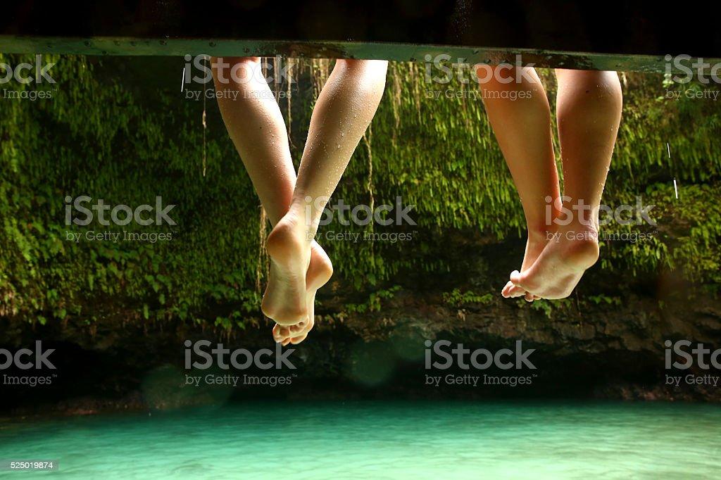 Swimming Feet stock photo