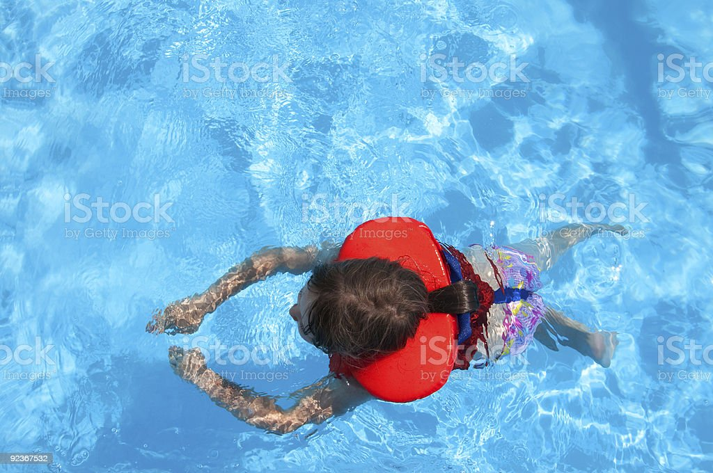 Swimming girl royalty-free stock photo
