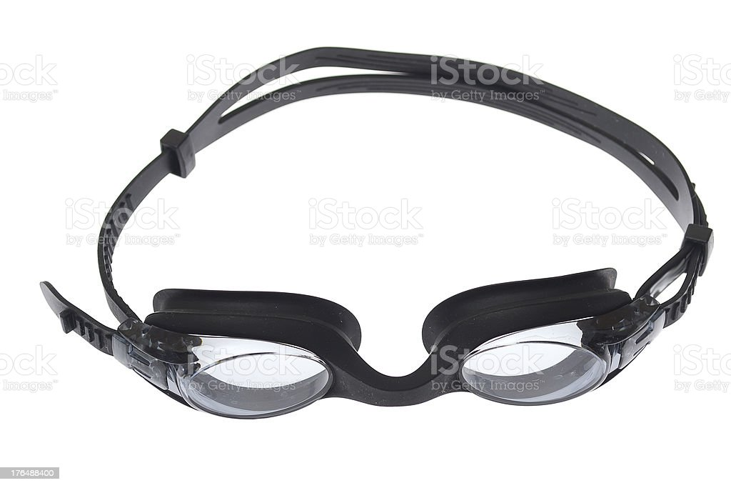 swimming goggles isolated on white royalty-free stock photo