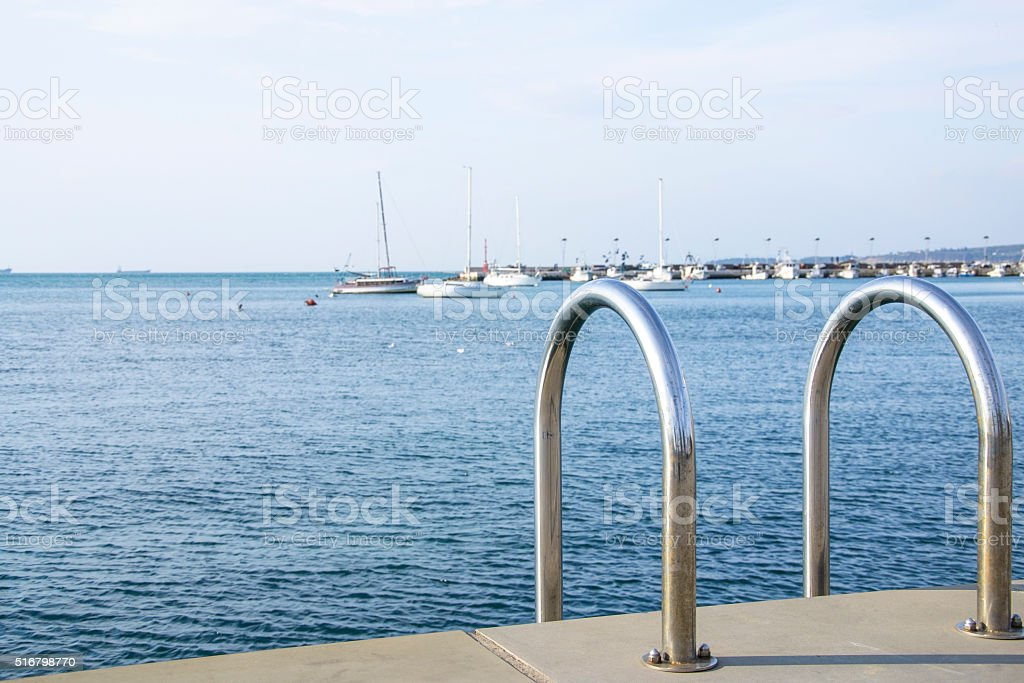 Swimming handle stock photo