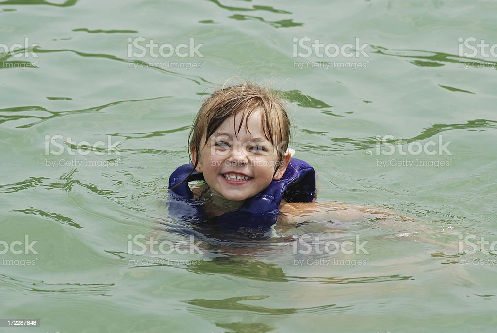 Swimming in the Lake stock photo