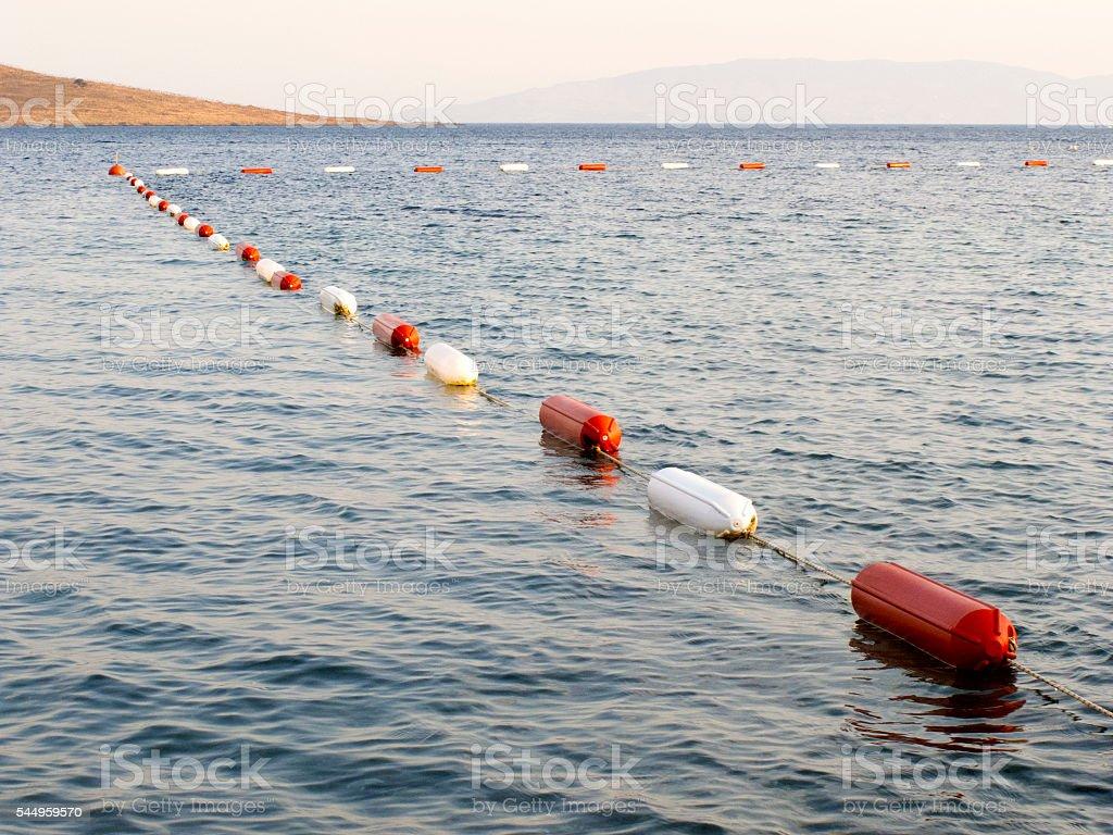 Swimming Lane Marker stock photo