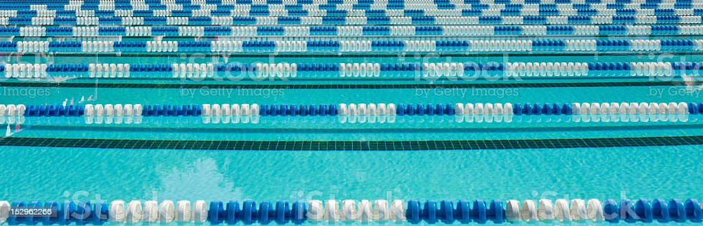 Swimming lane markers stock photo