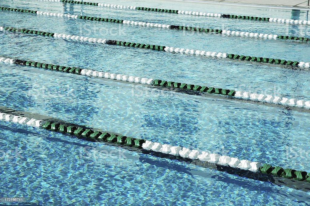 Swimming Lane Markers royalty-free stock photo