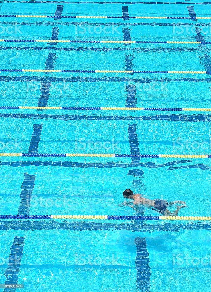 swimming lane series 1 royalty-free stock photo