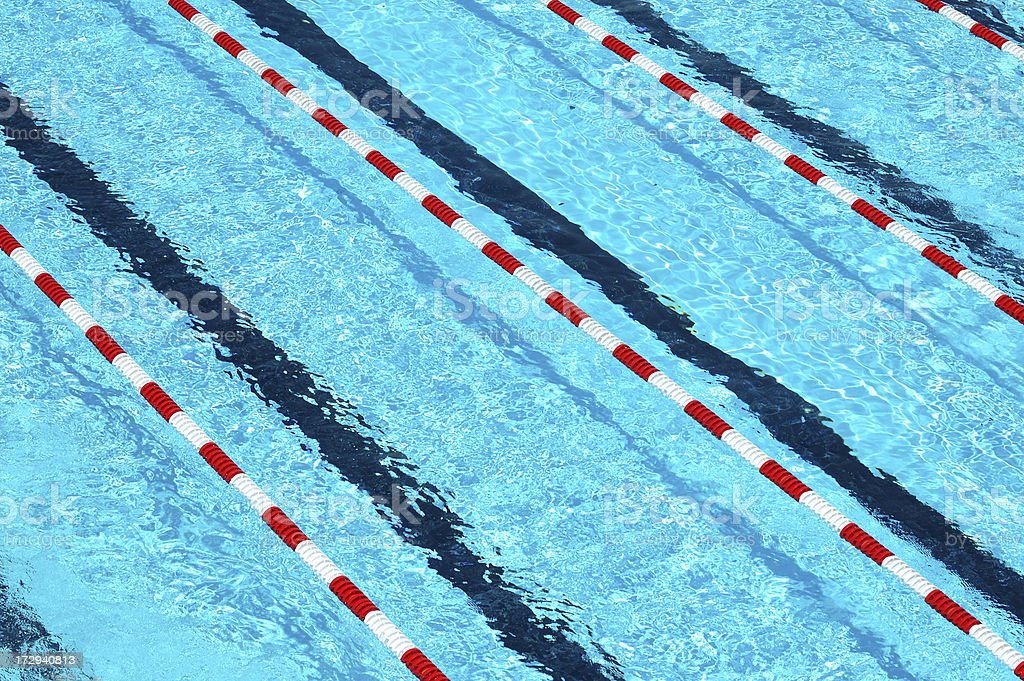 Swimming Lanes from Above stock photo