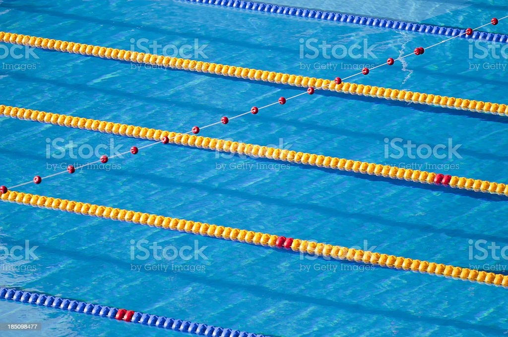 Swimming lanes stock photo