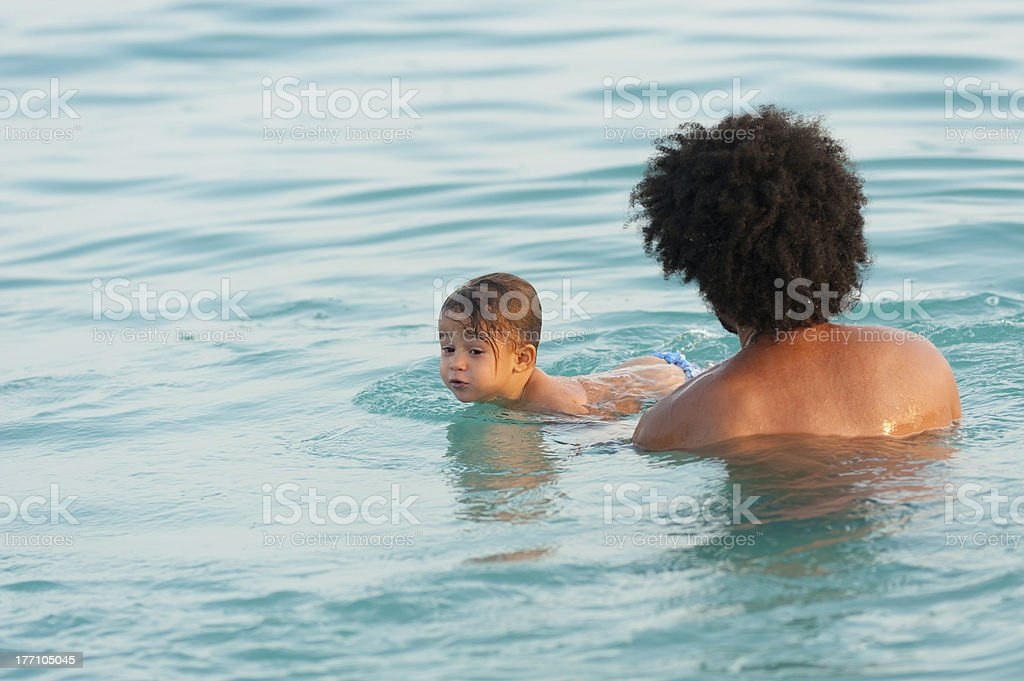 Swimming lesson royalty-free stock photo