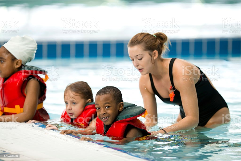 Swimming Lessons royalty-free stock photo
