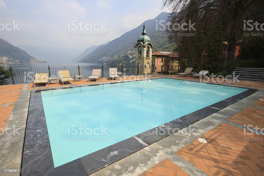swimming on Lake Como - Faggeto Lario royalty-free stock photo