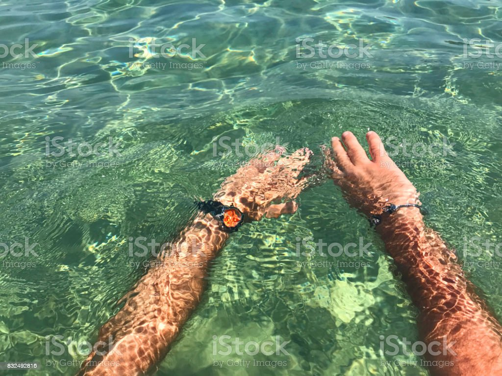 Swimming stock photo