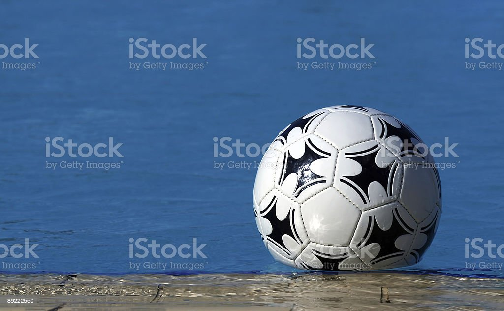 swimming pool and ball royalty-free stock photo