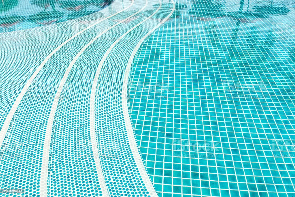 Swimming pool and clear water rippled stock photo