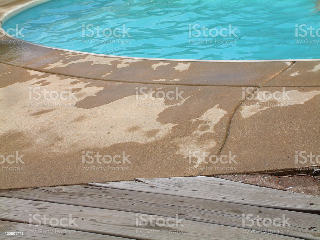 Swimming Pool  and Deck royalty-free stock photo