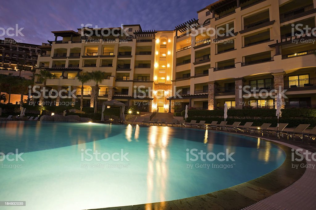 Swimming Pool and Resort in Cabo San Lucas Mexico royalty-free stock photo
