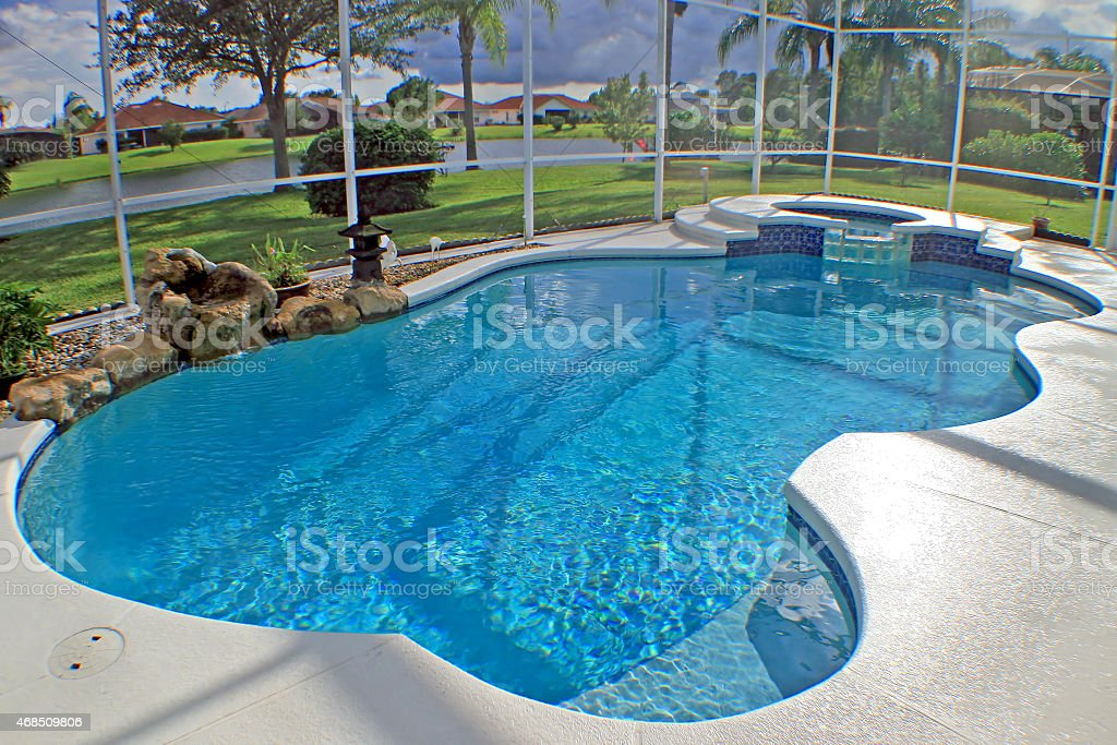 Swimming Pool and Spa stock photo