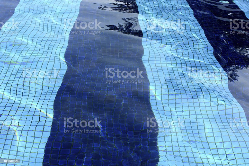 Swimming pool and surface rippled water royalty-free stock photo