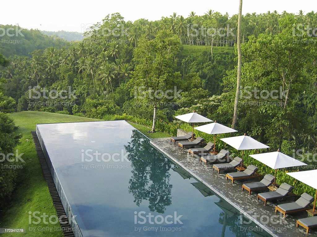 Swimming Pool At Eco-Resort stock photo