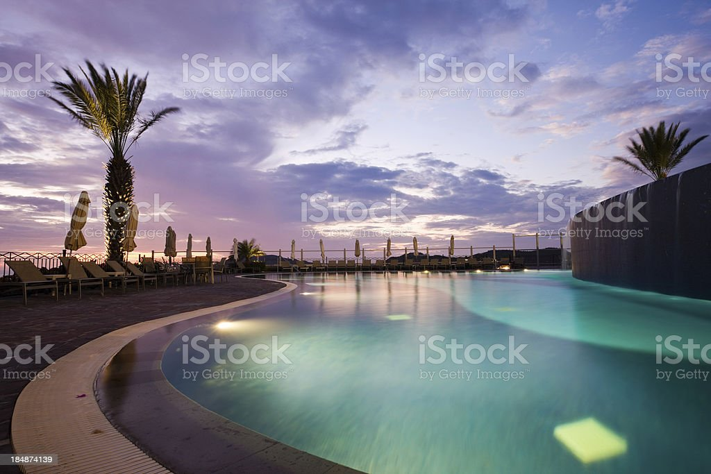Swimming Pool At Resort stock photo