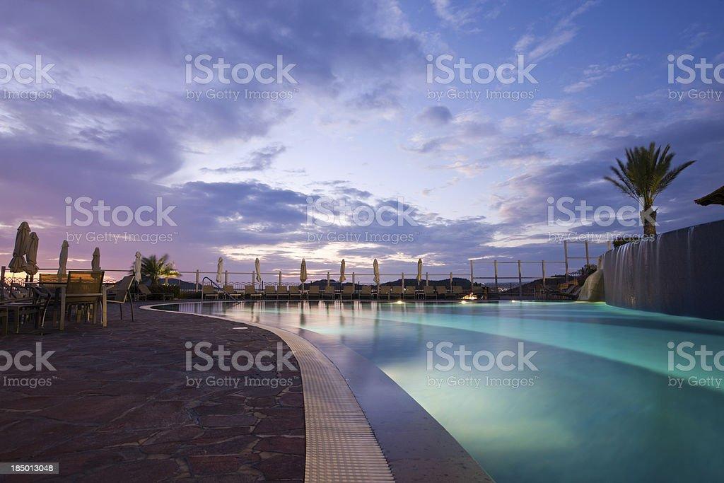 Swimming Pool At Resort royalty-free stock photo