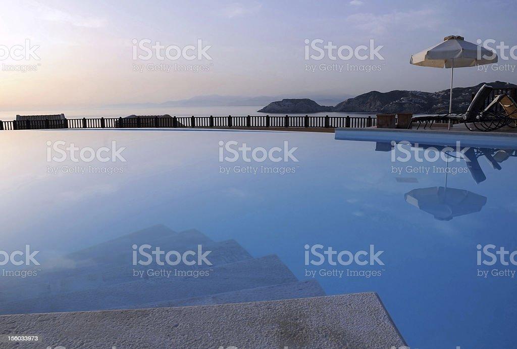 Swimming Pool at Sunrise royalty-free stock photo