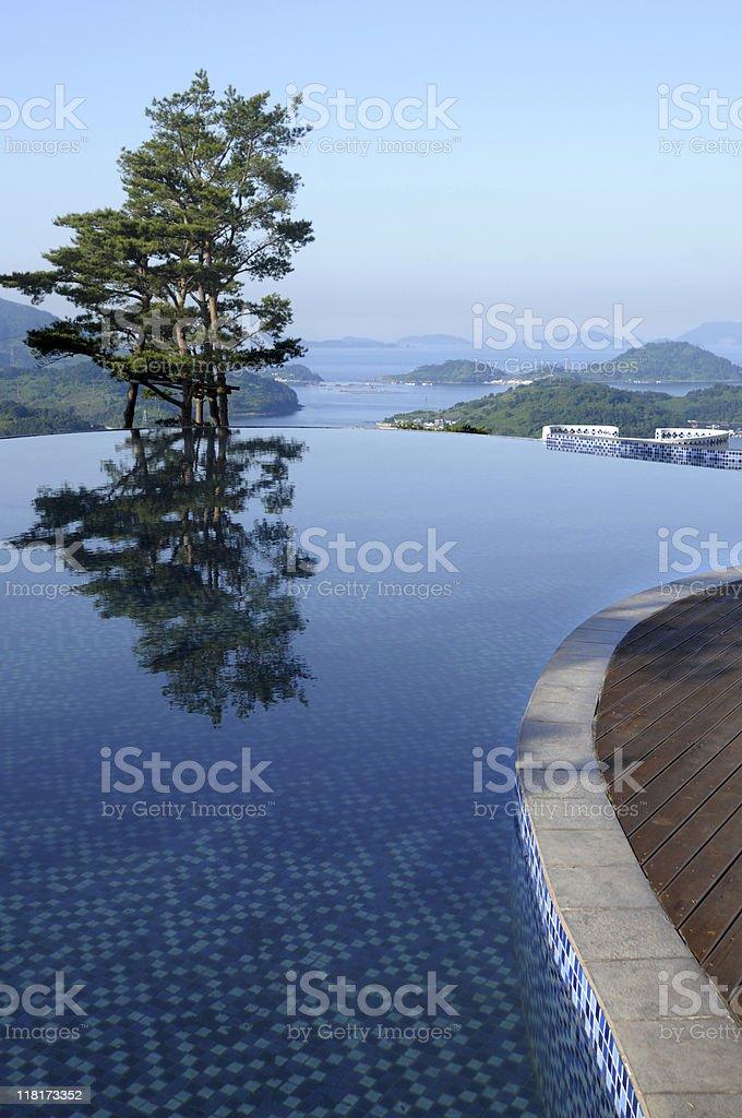 Swimming pool at Tourist Resort royalty-free stock photo